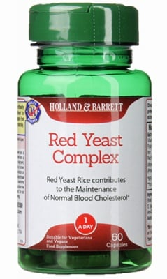 Red yeast complex 60 capsules Holland & Barrett / Червена мая комплекс 60 капсули Holland & Barrett