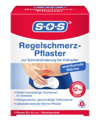 S. O. S. menstrual pain warmer plaster 2 pcs. / С.О.С. Загряващ пластир при менструални болки 2 броя