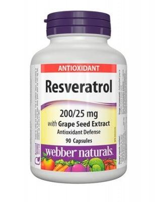 Resveratrol 90 capsules Webber Naturals / Ресвератрол 90 капсули Уебър Натуралс