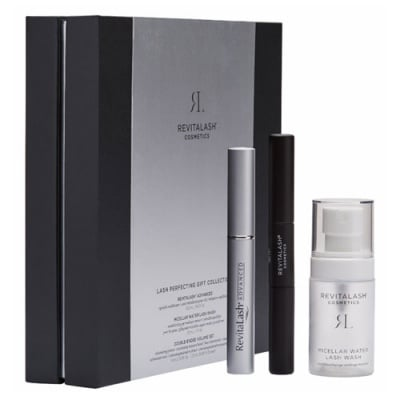 Revitalash Advanced Set - Eyelash Conditioner 3,5 ml + Micellar water 30 ml + Double-ended volume mascara 2 in 1 / Ревиталаш комплект - Серум за мигли 3,5 мл. + Мицеларна вода 30 мл. + Спирала за мигли 2 в 1