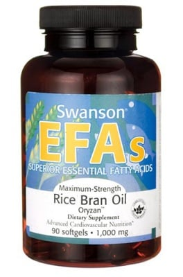 Swanson Maximum-strength rice bran oil 1000 mg 90 capsules / Суонсън масло от ориз ЕФА 1000 мг. 90 капсули