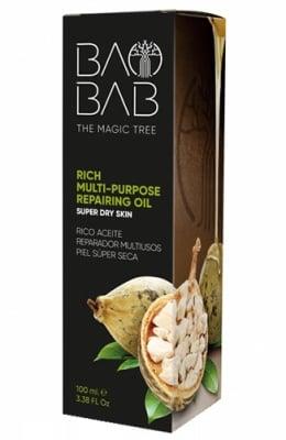 Baobab rich multi-purpose repairing oil 100 ml. / Многофукционално възстановително масло от Баобаб за лице, коса, тяло 100 мл.