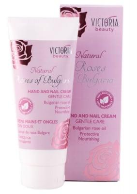 Victoria beauty Natural Rosses of Bulgaria hand and nail cream 100 ml. / Виктория бюти Натурал Роза крем за ръце и нокти 100 мл.