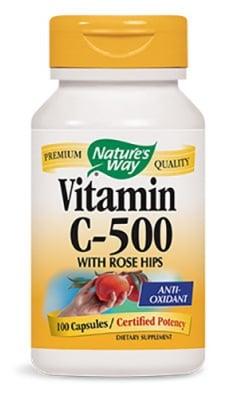 Vitamin C with Rose Hips 500 mg. 100 capsules Nature's Way / Витамин Ц + Шипка 500 мг. 100 капсули Nature's Way