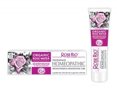 Rose Rio tootpaste Organic rose water 65 ml. / Паста за зъби Роуз Рио хомеопатична 65 мл.