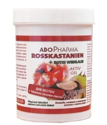 Abopharma active gel with horse chestnut and red vine leaves 125 ml. / Абофарма активен гел от див кестен и червени лозови листа 125 мл.