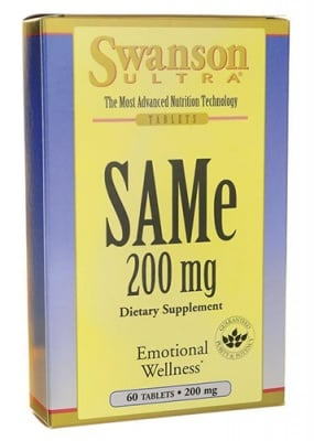 Swanson SAMe 200 mg 60 tablets / Суонсън САМ-Е 200 мг. 60 таблетки