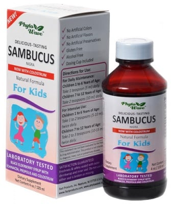 Sambucus nigra / Самбукус нигра сироп за деца, Сироп: 120 ml