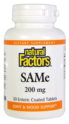 SAM-E 200 mg 30 tablets Natural Factors / САМ-Е 200 мг. 30 таблетки Натурал Факторс