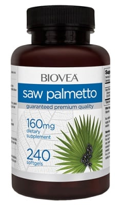 Biovea Saw palmetto 160 mg 240 capsules / Биовеа Сао Палмето 160 мг. 240 капсули