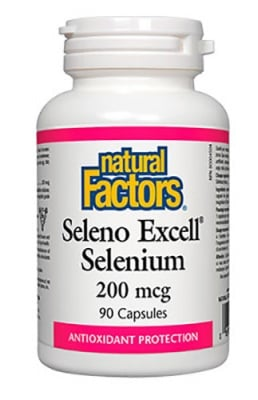 Seleno excell selenium 200 mcg 90 capsules Natural Factors / Селено Ексцел 200 мкг. 90 капсули Натурал Факторс