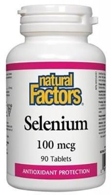 Selenium 100 mcg. 90 tablets Natural Factors / Селен 100 мкг. 90 таблетки Натурал факторс