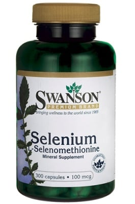 Swanson selenium 100 mcg 300 capsules / Суонсън Селен 100 мкг. 300 капсули