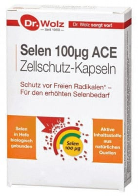 Selen ACE 100 mcg 20 capsules Dr. Wolz / Селен АСЕ 100 мкг. 20 капсули Dr. Wolz