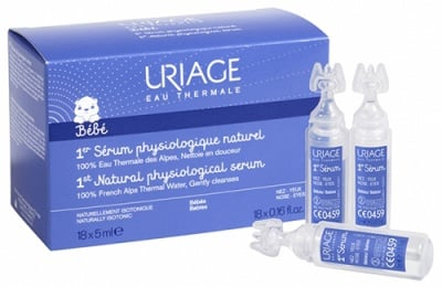 Uriage ISOPHY UNIDOSE Natural physiological serum for nose and eyes 5 ml 18 unidose / Уриаж ISOPHY UNIDOSE Почистваща вода за нос и очи 5 мл. 18 броя дози
