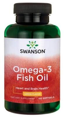 Swanson Omega 3 fish oil 150 capsules / Суонсън Омега 3 лимон 150 капсули