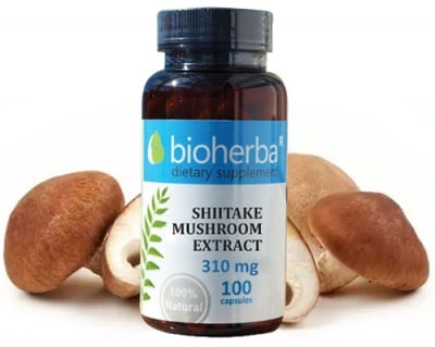 Bioherba Shiitake mushroom extract 310 mg 100 capsules / Биохерба Шийтаке екстракт 310 мг. 100 капсули