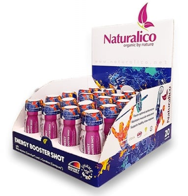 Naturalico energy booster 20 shot vial 60 ml / Натуралико енерджи бустер 20 броя флакони по 60 мл.