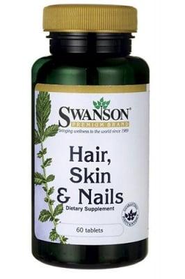 Swanson Hair, skin and nails 60 tablets / Суонсън Коса, кожа и нокти 60 таблетки