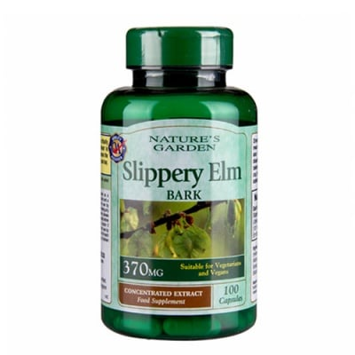 Slippery Elm Bark 370 mg 100 capsules Nature's Garden / Кора от Хлъзгав бряст 370 мг. 100 капсули Nature's Garden