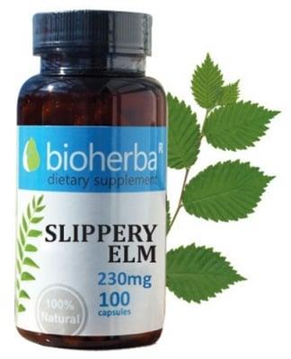 Bioherba slippery elm 230 mg 100 capsules / Биохерба Червен бряст кора 230 мг. 100 капсули