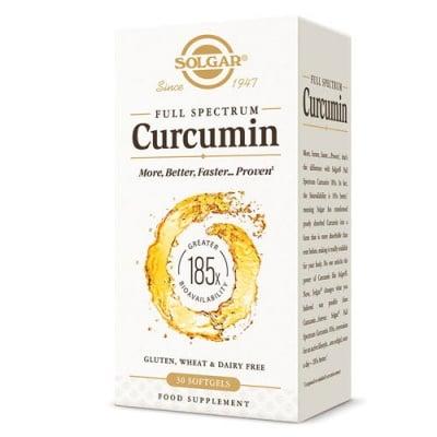 Full Spectrum Curcumin 30 capsules Solgar / Куркумин Фул Спектрум 30 капсули Солгар