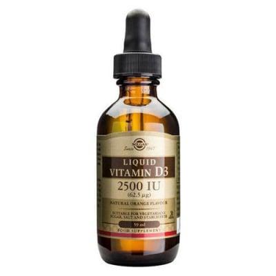 Liquid Vitamin D3 2500 IU 59 ml. Solgar / Витамин Д3 2500 IU течен 59 мл. Солгар