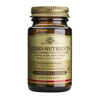 Neuro-Nutrients 30 vegetable capsules Solgar / Невро Нутриентс 30 растителни капсули Солгар