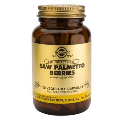 Saw Palmetto Berries 100 vegetable capsules Solgar / Сао Палмето плодове 100 растителни капсули Солгар