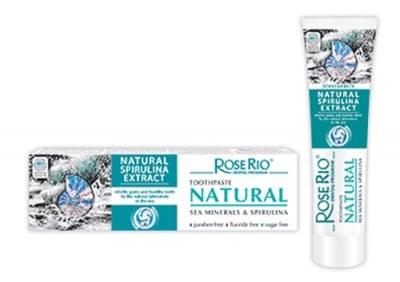 Rose Rio tootpaste Natural spirulina extract 65 ml. / Паста за зъби Роуз Рио натурал със спирулина и минерали от Черно море 65 мл.