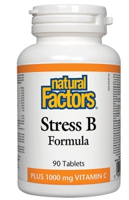 Stress B formula 90 tablets Natural Factors / Стрес формула + Витамин Ц 90 таблетки Натурал Факторс