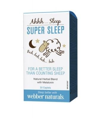Super sleep 30 caplets Webber Naturals / Супер слийп 30 каплети Уебър Натуралс