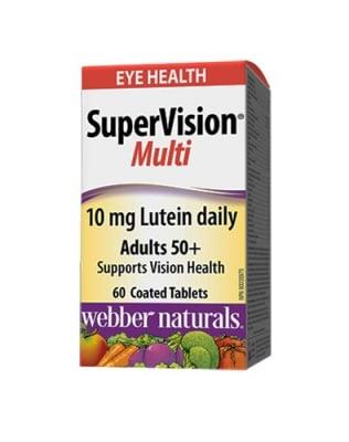 Super vision multi 60 tablets Webber Naturals / Супер вижън мулти грижа за зрението 50+ 60 таблетки Уебър Натуралс