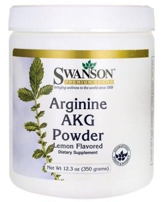 Swanson Arginine AKG powder 350 g / Суонсън Аргинин АКГ прах с аромат на лимон 350 гр.