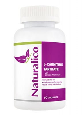 Naturalico L-carnitine tartrate 60 capsules / Натуралико L-карнитин тартарат 60 капсули