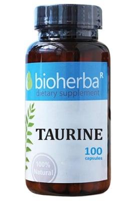Bioherba taurine 500 mg 100 capsules / Биохерба Таурин 500 мг 100 капсули