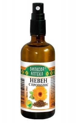 Throat spray with calendula and propolis 50 ml. Herbal Pharmacy / Спрей за гърло с невен и прополис 50 мл. Билкова Аптека