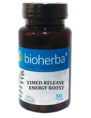 Bioherba timed-release energy boost 60 capsules / Биохерба енергийна бомба 24 часа 60 капсули