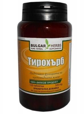 Bulgar Herbs tiroherb 120 tablets / Булгар Хербс Тирохърб 120 таблетки