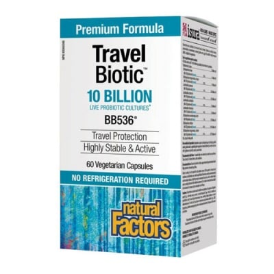 Travel Biotic 60 capsules Natural Factors / Травъл пробиотик 60 капсули Натурал Факторс