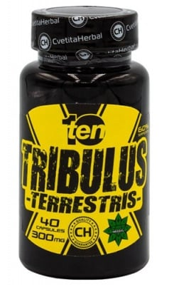 Ten Tribulus Terrestris 300 mg 40 capsules Cvetita Herbal / Тен Трибулус Tерестрис 300 мг. 40 капсули Цветита Хербал