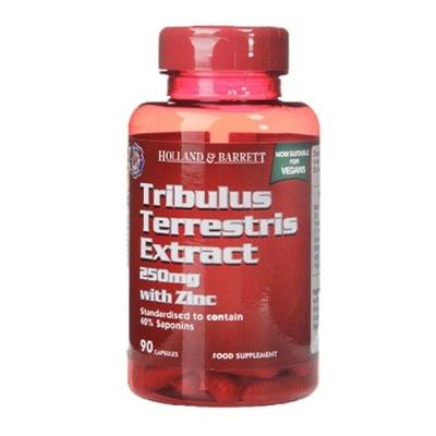 Tribulus Terrestris Extract with Zinc 250 mg. 90 capsules Holland & Barrett / Трибулус Терестрис (Бабини зъби) Екстракт 250 мг. 90 капсули Holland & Barrett