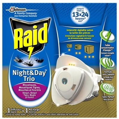 Raid Evaporator + filler day and night trio / Райд Изпарител + пълнител ден и нощ трио