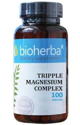 Bioherba tripple magnesium complex 100 capsules / Биохерба Троен Магнезиев комплекс 100 капсули