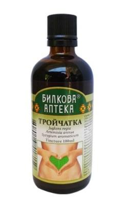 Tincture Juglans regia, artemisia absinthium, syzygium aromaticum 100 ml. / Тинктура Тройчатка 100 мл. Билкова Аптека