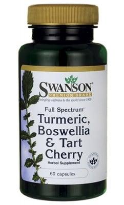 Swanson Turmeric, boswellia, tart cherry full spectrum 60 capsules / Суонсън Куркума, босвелия, вишна фул спектрум 60 капсули