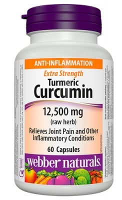 Turmeric extra strength (curcumin) 60 capsules Webber Naturals / Куркумин супер концентрат (турмерик) 60 капсули Уебър Натуралс
