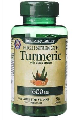 Turmeric with black pepper 600 mg 90 capsules Holland & Barrett / Био куркума с черен пипер 600 мг 90 капсули Holland & Barrett