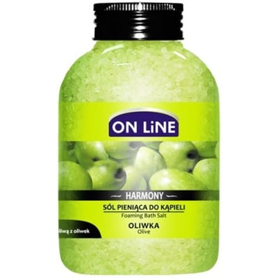 Online Foaming bath salts with olive oil 600 g / Онлайн Арома терапевтични соли за вана с маслиново масло 600 гр.