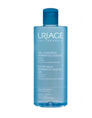 Uriage SURGRAS Extra-rich dermatological gel 400 ml. / Уриаж SURGRAS Богат почистващ душ гел 400 мл.